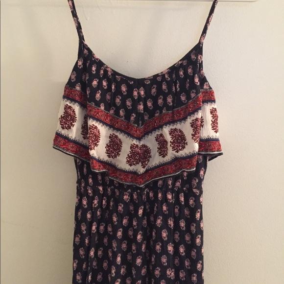 3cc19830a1b0 American Eagle Outfitters Dresses   Aeo Ruffle Boho Slit Dress ...